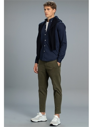 Lufian Sasa Smart Gömlek Comfort Slim Fit  Lacivert